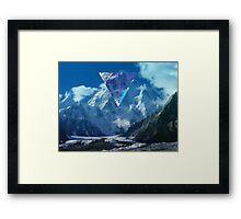 Golden Mountains Framed Print