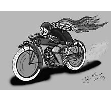 INDIAN MOTORCYCLE STEAMPUNK STYLE (Black and White) Photographic Print