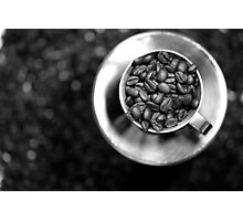 Coffee beans with black and white Photographic Print