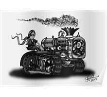 1923 BEST TRACTOR STEAMPUNK (BLACK AND WHITE) Poster