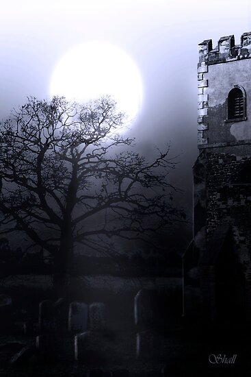 Moonlit Church by shall