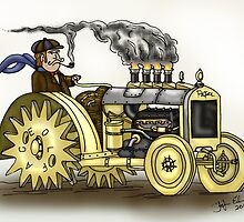 Steampunk Tractor by squigglemonkey