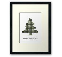 Tetrismas Tree Framed Print