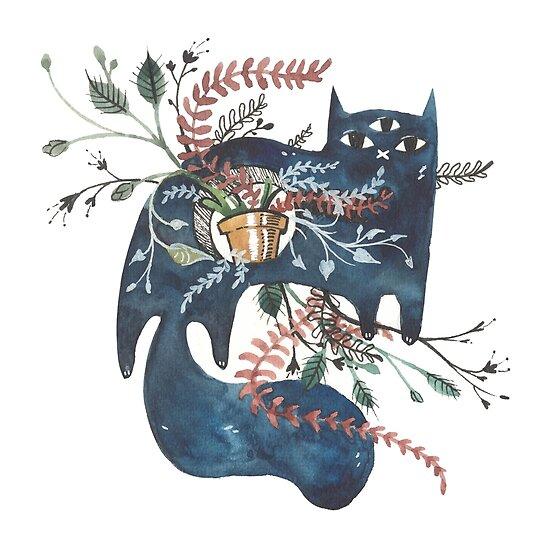 Bane - Feline Terrarium by Jennalee Auclair
