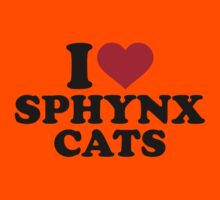 I love Sphynx cats Kids Clothes