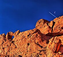 Racing the Moon by Charles Dobbs Photography