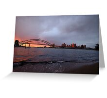 Reflections of Day - Moods Of A City, Sydney Australia Greeting Card