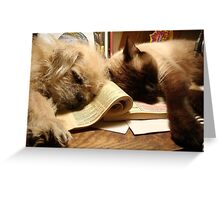 BOOKENDS Greeting Card