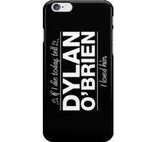 Dylan O' Brien - If I Die Series iPhone Case/Skin