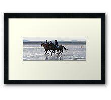 Beach riding Framed Print