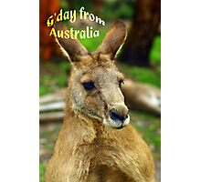 """G'day from Australia"" Photographic Print"