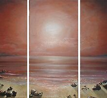 Hazy Moonscape by Cherie Roe Dirksen