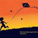 Kites rise highest against the wind by SFDesignstudio