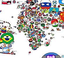 Polandball Countryball World Map | Countryballs Meme by meme-tees