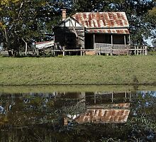 Rustic Home Reflection, Pacific Highway, Australia 2011 by muz2142