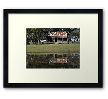Rustic Home Reflection, Pacific Highway, Australia 2011 Framed Print