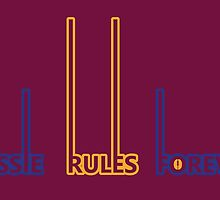 Brisbane Lions - Aussie Rules Forever by scribbledeath