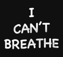 I CAN'T BREATHE SHIRT (Derrick Rose Eric Garner)  by Quik86