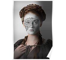 Sansa Stark Direwolf House War Paint Poster
