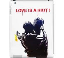 Love is a riot iPad Case/Skin