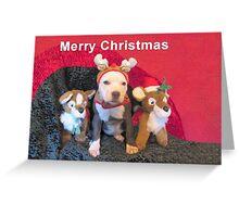 Mee Mee The Blue Nosed Reindeer Greeting Card