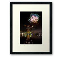 New Year's Eve Fireworks 2007, Adelaide, South Australia Framed Print