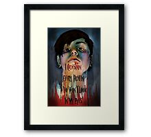 I Question Every Human Who Won't Look In My Eyes Framed Print
