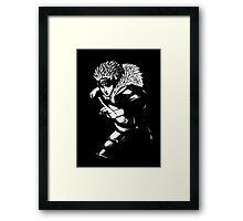 minimalist of second hokage Framed Print