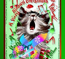 Christmas Carol Kitty by Lotacats