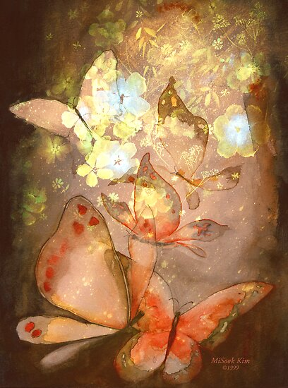 """Pretty Butterflies"" Watercolor/Digital by MiSook Kim by misook"
