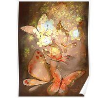 """Pretty Butterflies"" Watercolor/Digital by MiSook Kim Poster"