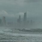 Sunshine,Beach, swimming,  suntan ,?? surfers paradise come for the holidays? No, come back next week ! by Virginia McGowan