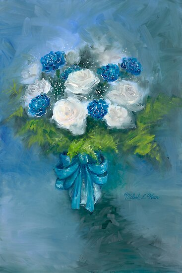 """Flowers From My Love"" Oil on Canvas by MiSook Kim by misook"