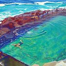 The Bogey Hole II, Newcastle, NSW, Australia by Carole Elliott