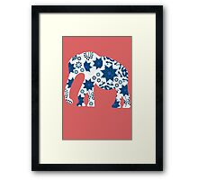 Elephant painted markers Framed Print