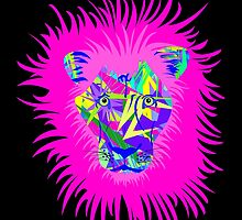 Colorful Abstract Lion  by ChannyTatum