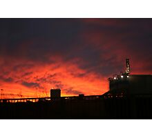 Red Sky Warning Photographic Print