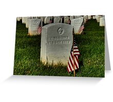 Unknown US Soldier Greeting Card