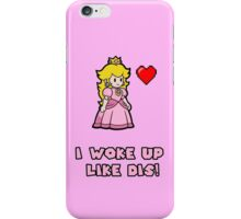 Princess Peach work up like DIS iPhone Case/Skin