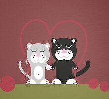 Cats in love  by notDaisy