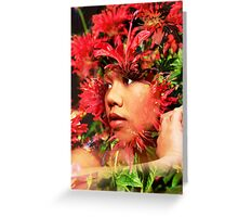 Lady from Thailand Greeting Card