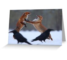 Power struggle Greeting Card