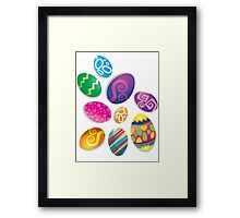 Many Easter eggs  Framed Print