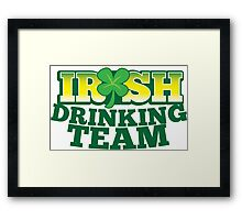 IRISH drinking Team with beer pint and Shamrock Framed Print