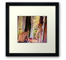 What Happens in the Bedroom Framed Print