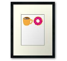 Coffee and Doughnut! sweet treats! Framed Print