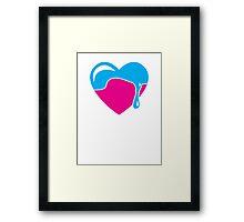 Love heart dripping cute! Framed Print