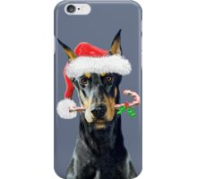 Doberman Christmas iPhone Case/Skin