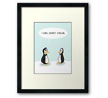 Dress code penguins Framed Print