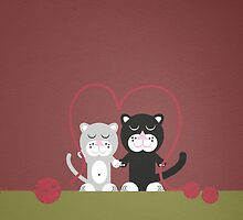 Cats in love ! by notDaisy